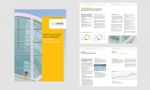 Grafik Design: Cominvest Fondak Broschüre