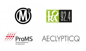 Logos: ProMS, Radio Lora, AECLYPTICQ, Maierhofer