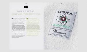 Marketing Kommunikation: OSKA Wollbuch Walk