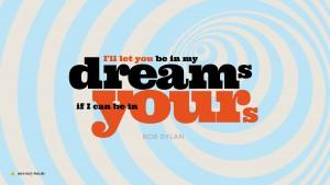 Typografisches Layout eines Bob-Dylan-Zitats