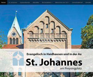 Responsive Webdesign: St. Johannes Homepage