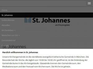 Responsive Webdesign: St. Johannes Menue-Overlay
