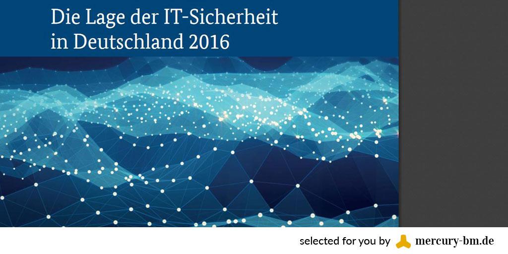 BSI-Bericht zur IT-Sicherheit 2016