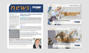 Redesign: FHDW Newsletter & Postkarte
