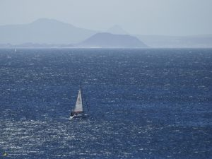 Sailboat cruising at Fuerte Ventura 4:3