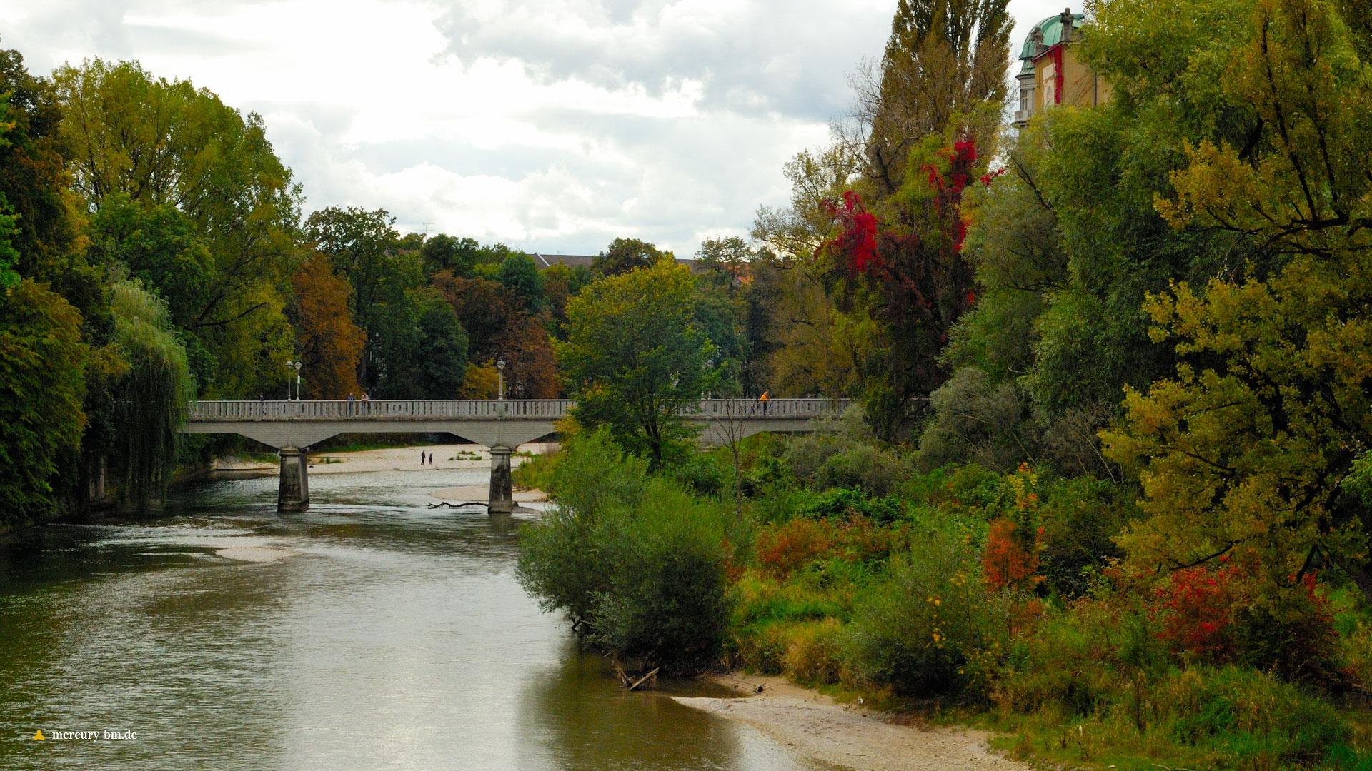 Herbstliche Isar