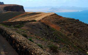 View from Mirador del Río, Lanzarote towards Famara bay