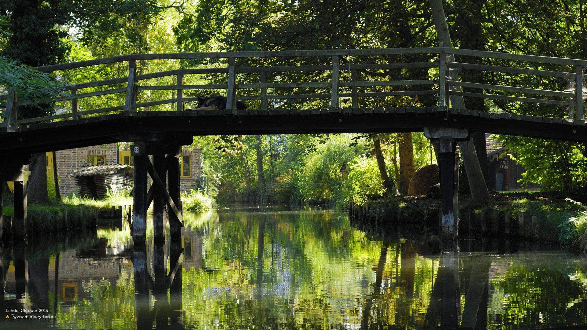 Kanalbrücke in Lehde, Spreewald
