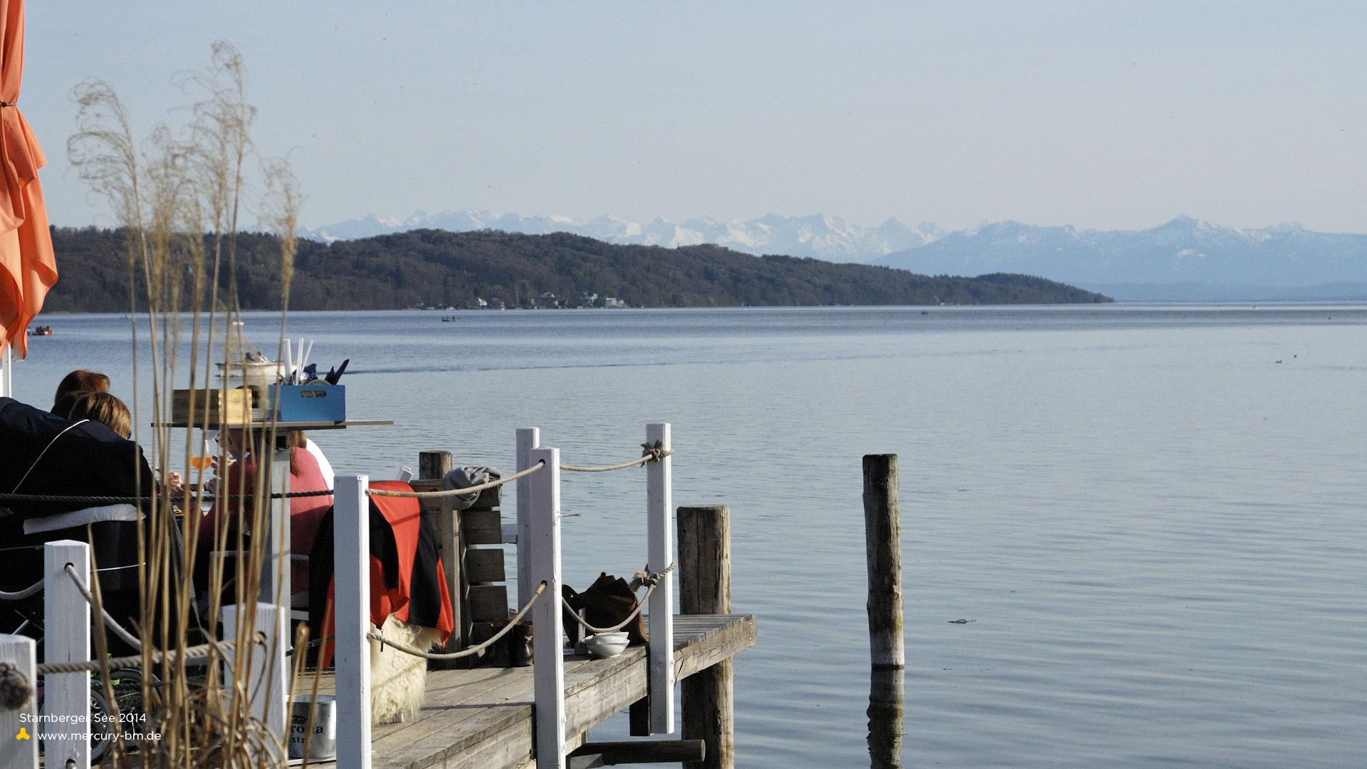 Alpenblick vom Undosa am Starnberger See