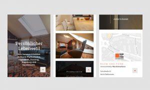Responsive Webdesign: Raum und Form Ansicht Smartphone