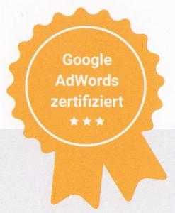 Siegel Google Adwords zertifiziert
