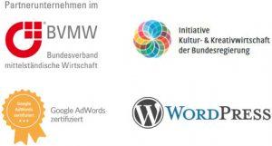 Partnerlogos und Zertifizierung